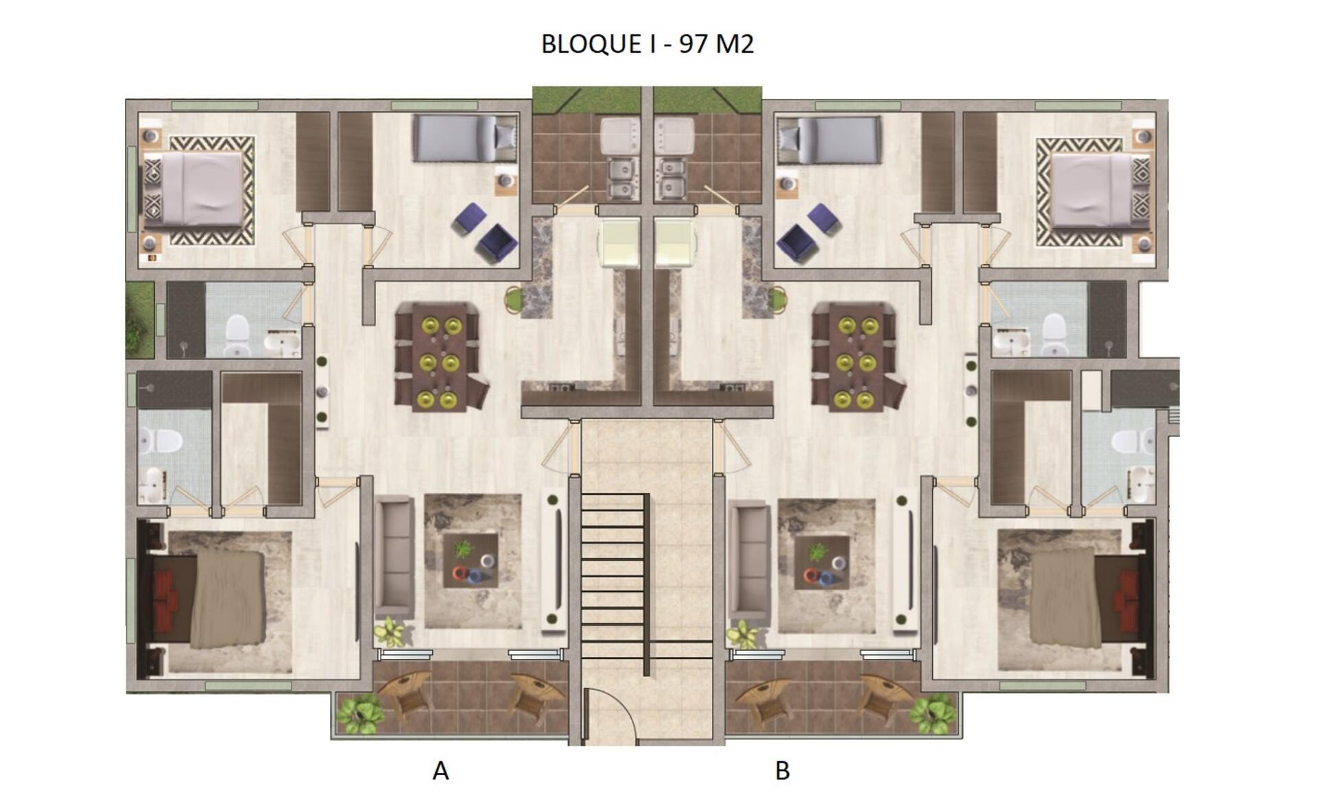 Urb. Paraiso Oriental, Apartamento En Venta Con 97 Mts2