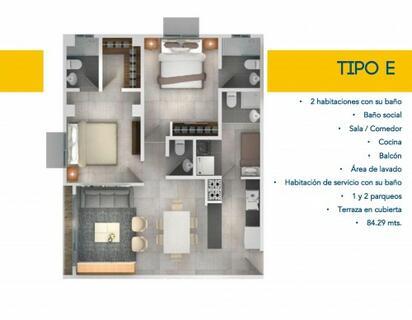 Bella Vista, Vendo Apartamento De 2 Dormitorios