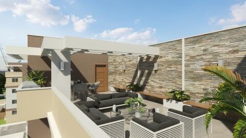 Apartamento de 4to nivel con Terraza, Urbanización Brisa Oriental