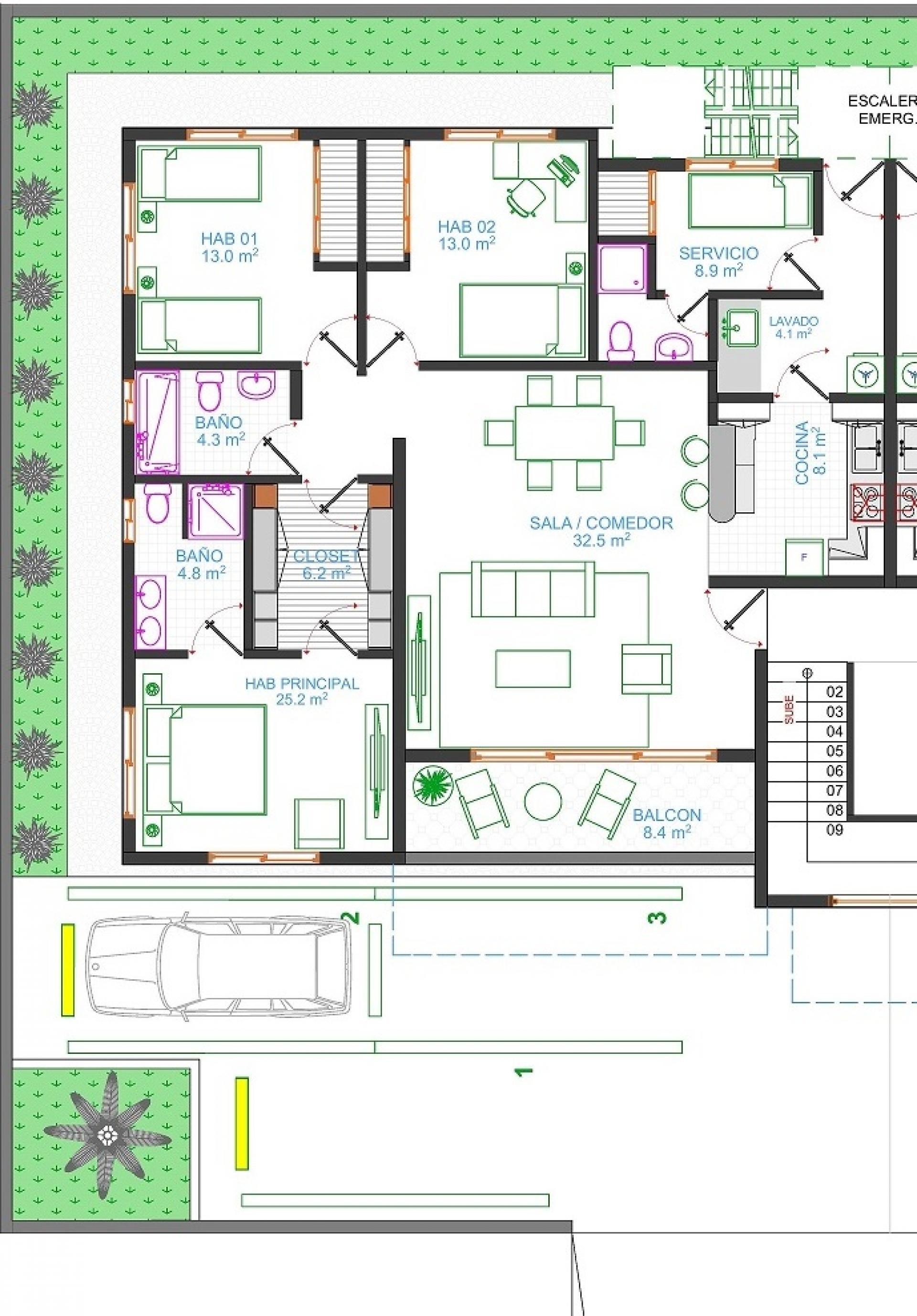 Apartamento Amplio y Con Patio En Venta, Urb. Brisa Oriental